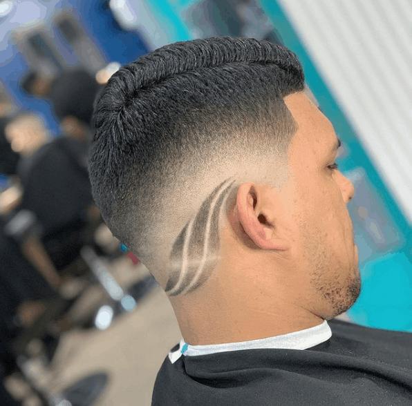 Desenho no cabelo masculino 2021