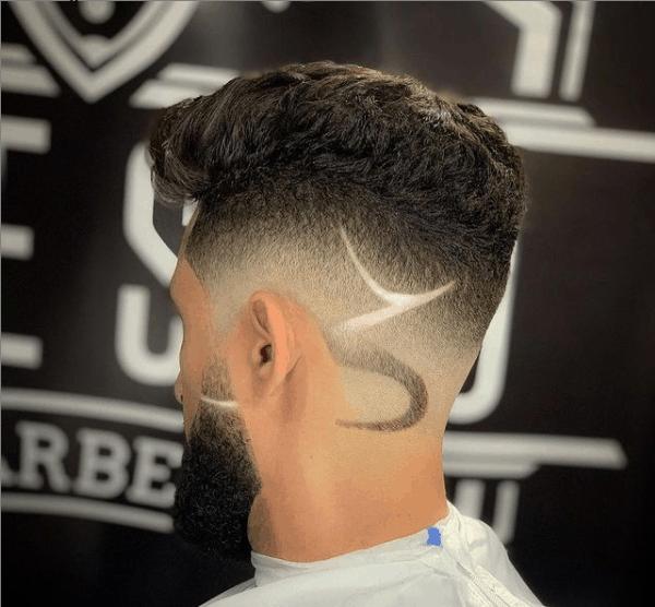 Corte com desenho no cabelo masculino 2021