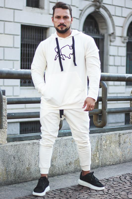 Conjunto de Moletom Masculino All White