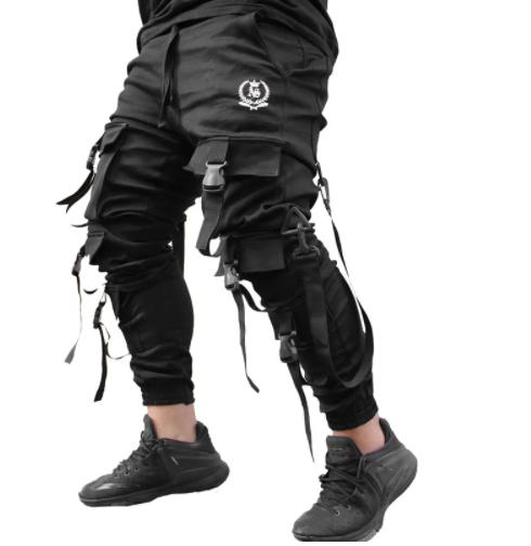 Calça com bolsos laterais preta