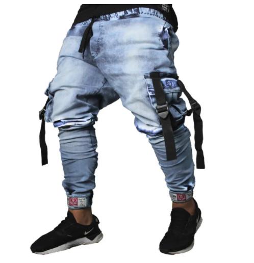 Calça Cargo Masculina Jeans
