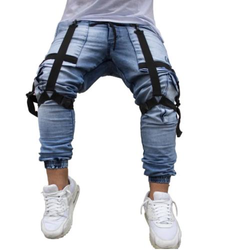 Calça Cargo Jogger Masculina Jeans